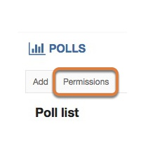 Changing permissions to allow others to create and manage polls