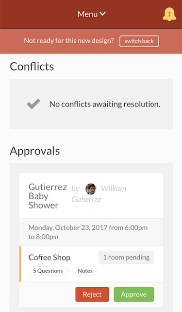 notifications page