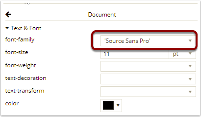 Format font in the document – Documill Support