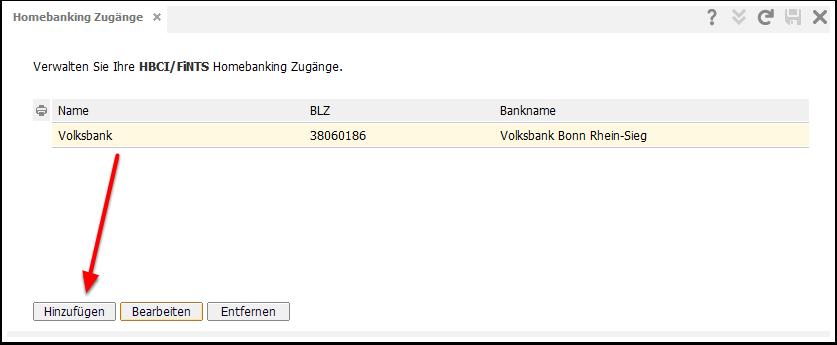 Hausbanken angeben