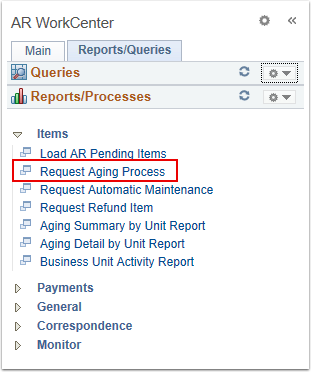 Request Aging Process