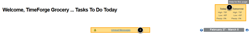 """""""Today"""" Page - Labor Management Dashboard"""