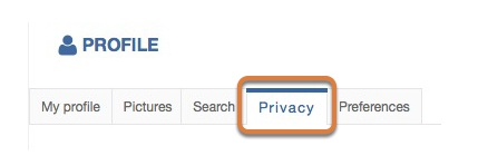 Modifying the privacy settings