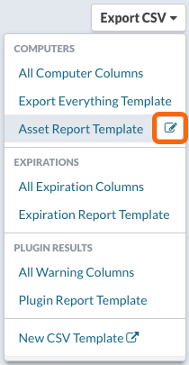 Export CSV > Editing a CSV Export Template