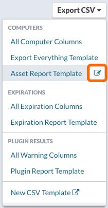 Export CSV > Editing a CSV Export Template