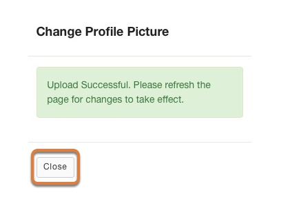 Refresh the page for changes to take effect