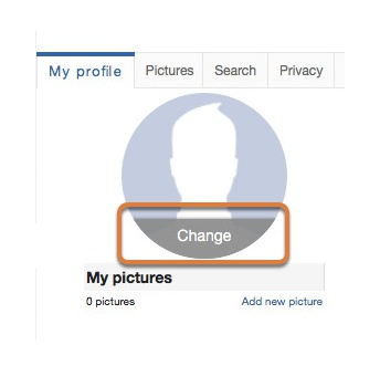 Setting the profile photo