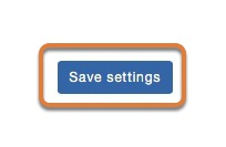 Click the Save settings button