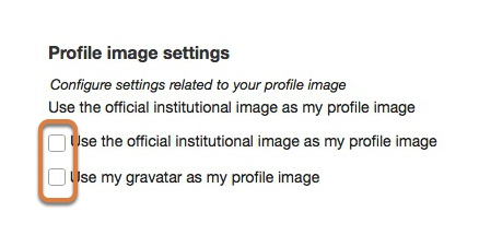 Select profile image settings