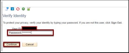Verify Identity section