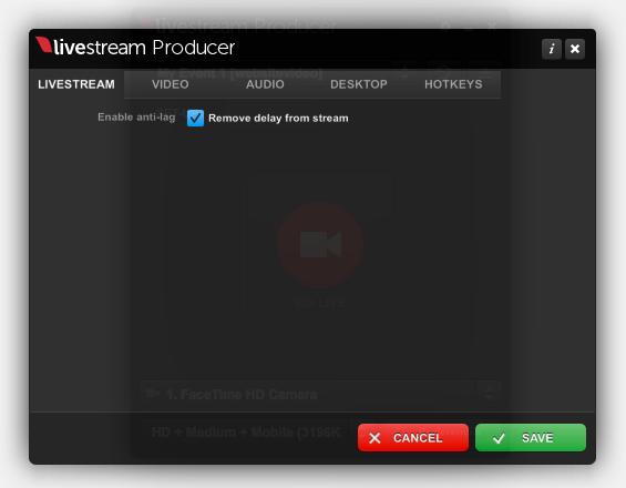 Anti-Lag in Livestream Producer – Livestream