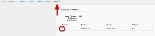 View Passage Revisions