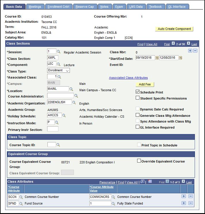 Basic Data tab