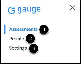 View Gauge Navigation Menu