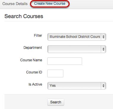 Create New Course