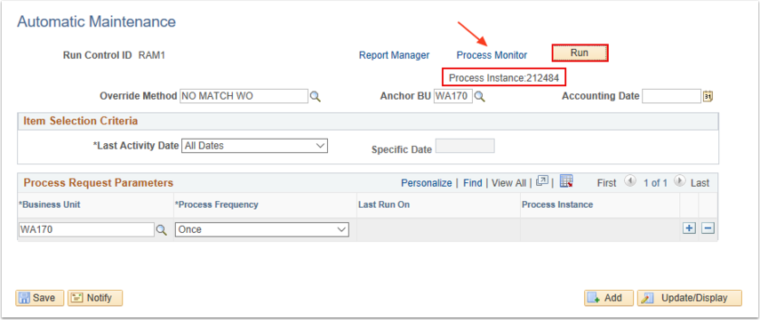 Process Instance and Monitor
