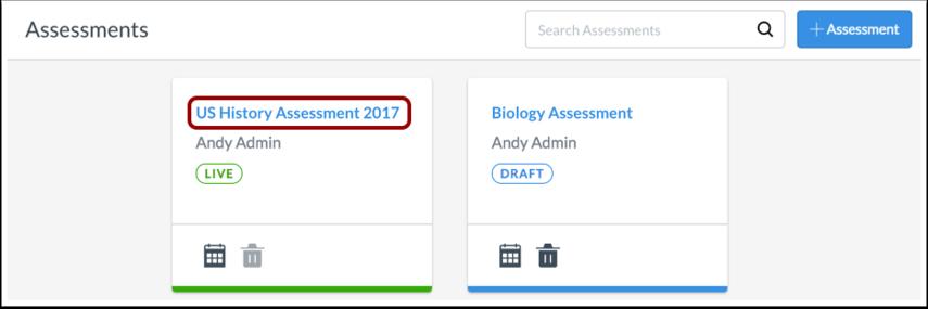 Open Assessment