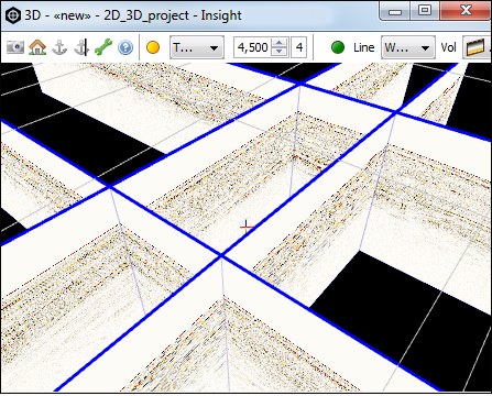 View multiple 2D lines in the 3D View