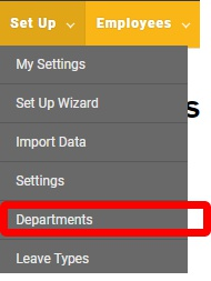 "Go to the ""Departments"" page."