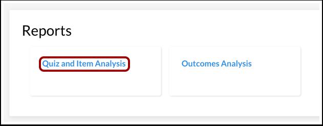 Open Quiz and Item Analysis
