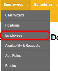 "Get to the ""Employee List"" page."
