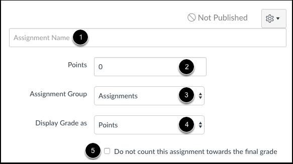 Edit Assessment Details