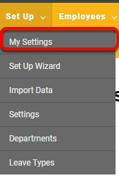 "Navigate to the ""My Settings"" page."