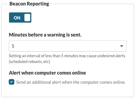 Beacon Reporting
