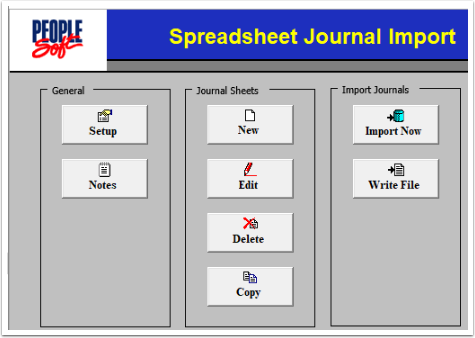 Spreadsheet Journal Import