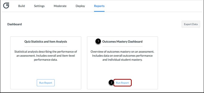 Open Outcomes Mastery Dashboard