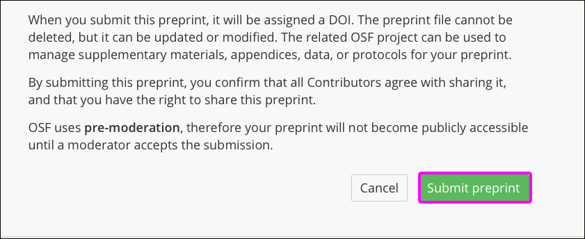 Share Your Preprint