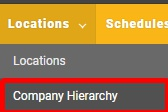 """Go to the """"Company Hierarchy"""" page."""