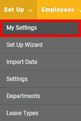"Go to the ""My Settings"" page."