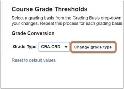 Change grade type