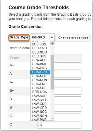Grade Type