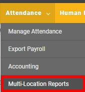 "Go to the ""Attendance Reports"" page."