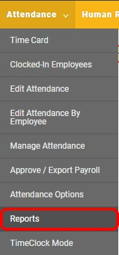 Navigate to the employee attendance reports page.