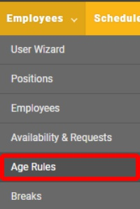 "Go to the ""Age Rules"" page."