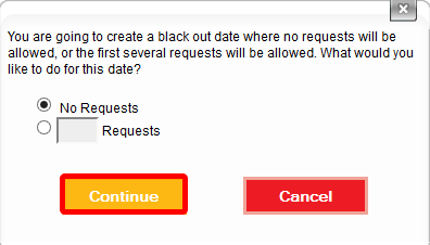 Choose to allow some or no requests.