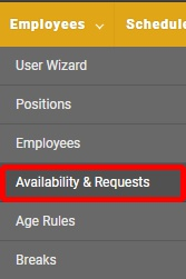 "Go to the ""Availability & Requests"" page."