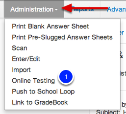 Assign Rosters/Enable an Assessment for Online Testing
