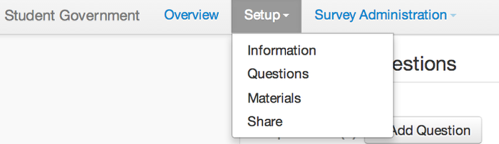 Setup: Edit/Add Materials/Share
