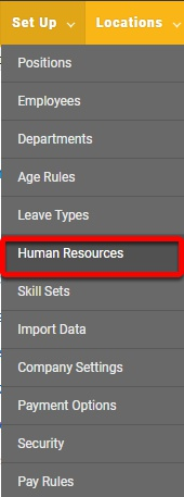 Go to the Human Resources Configuration
