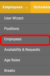 "Get to the ""Employees"" page."
