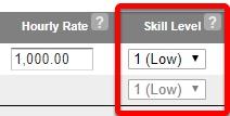 Select a skill level.