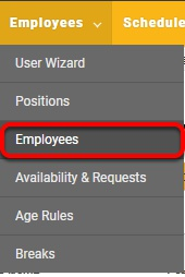 "To set up salaried employees, navigate to the ""Employees"" page."