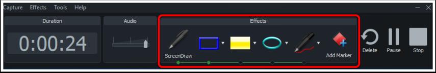 Screen drawing tools