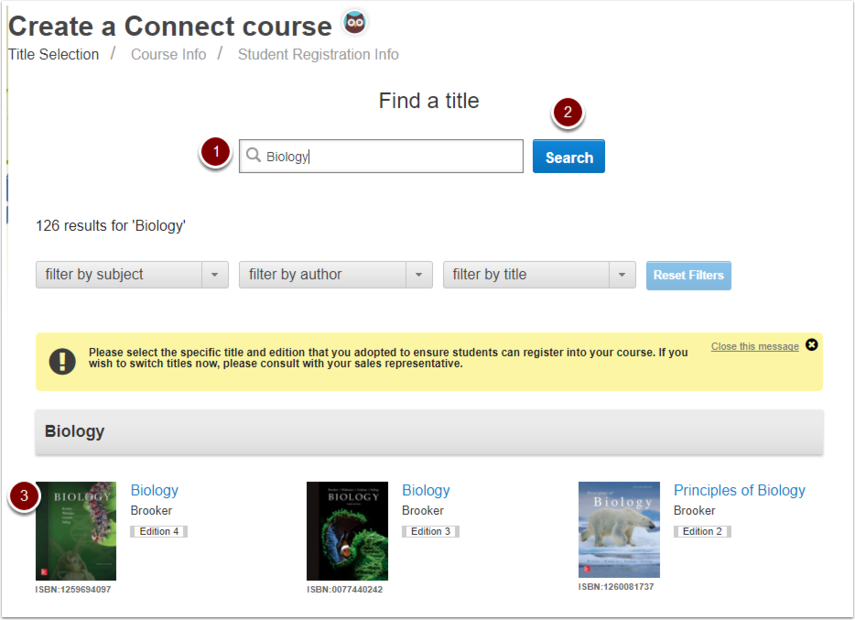 McGraw-Hill Connect Course creation