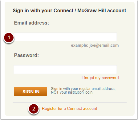 McGraw-Hill Connect sign in