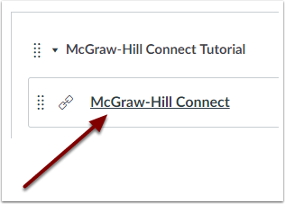 McGraw-Hill Connect Module Item